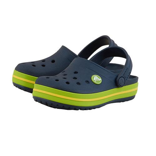 Crocs Crocband Clog K - Σαγιονάρες - ΜΠΛΕ/ΠΡΑΣΙΝΟ