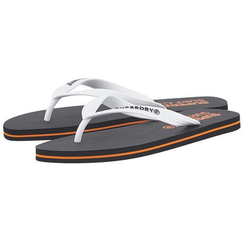 Superdry Sleek Flip Flop - Σαγιονάρες - ΜΑΥΡΟ/ΛΕΥΚΟ