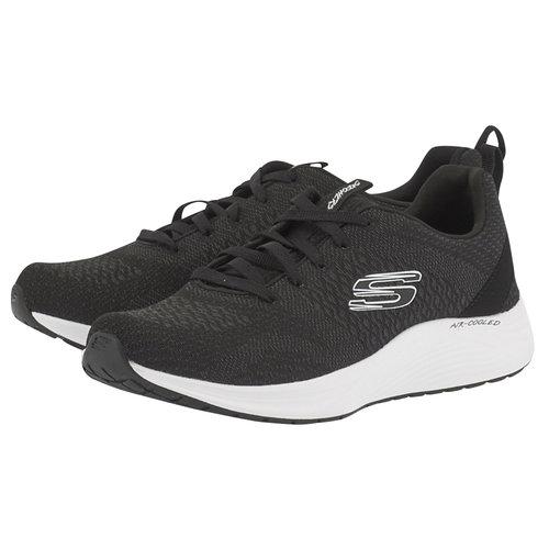 Skechers Soft Knit Lace-Up W - Αθλητικά - ΜΑΥΡΟ