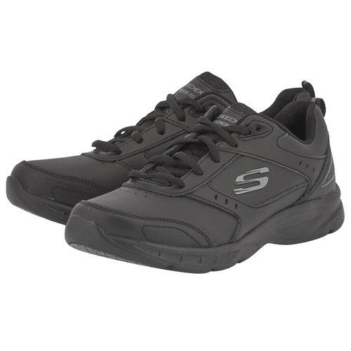 Skechers Leather Overlay W - Sneakers - ΜΑΥΡΟ
