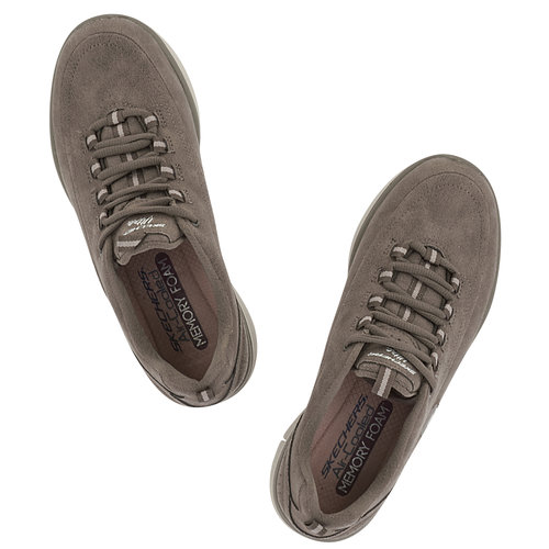 Skechers Classic Microleather W - Sneakers - ΜΠΕΖ ΣΚΟΥΡΟ