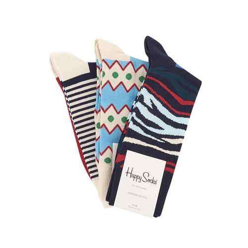 Happy Socks 3Ppk - Κάλτσες - ΔΙΑΦΟΡΑ ΧΡΩΜΑΤΑ