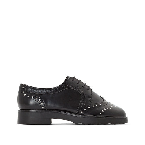 La Redoute Collections - Brogues & Loafers - ΜΑΥΡΟ