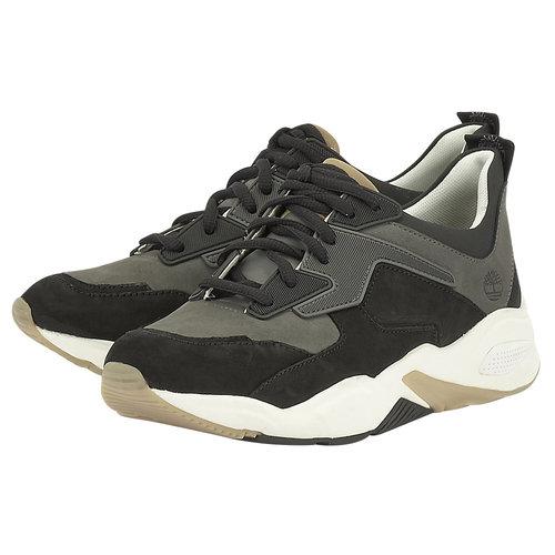 Timberland Delphiville Leather Sneaker - Sneakers - ΜΑΥΡΟ/ΓΚΡΙ