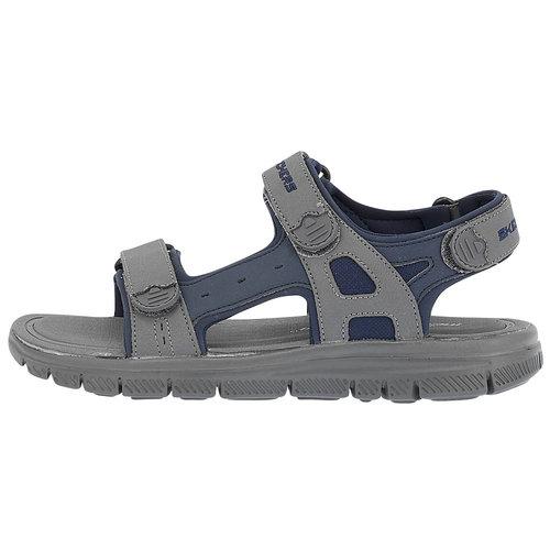 Skechers Adjustable Strap Sandal - Πέδιλα - ΜΠΛΕ/ΓΚΡΙ