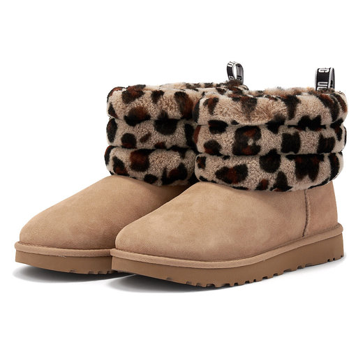Ugg Fluff Mini Quilted - Μποτάκια - ΜΠΕΖ/ΛΕΟΠΑΡ