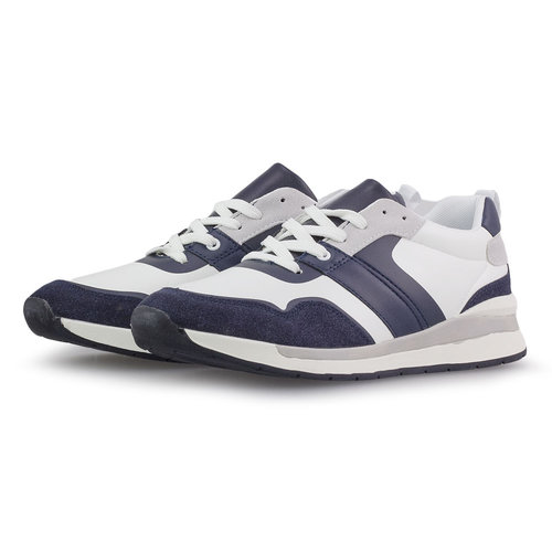 Levon - Sneakers - ΛΕΥΚΟ/ΜΠΛΕ ΣΚΟΥΡΟ