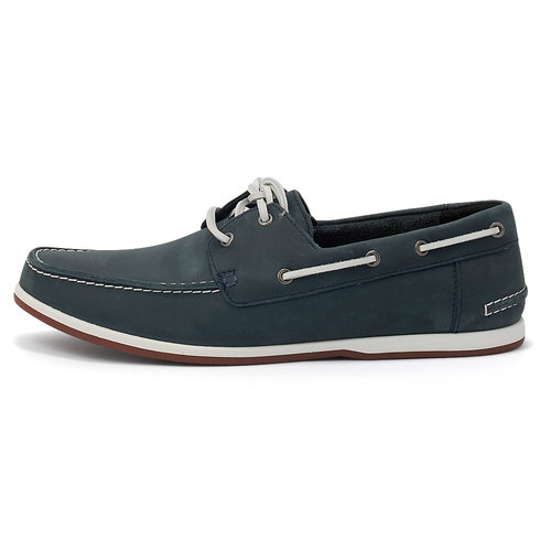 Clarks Pickwell Sail - Brogues & Loafers - ΜΠΛΕ ΣΚΟΥΡΟ