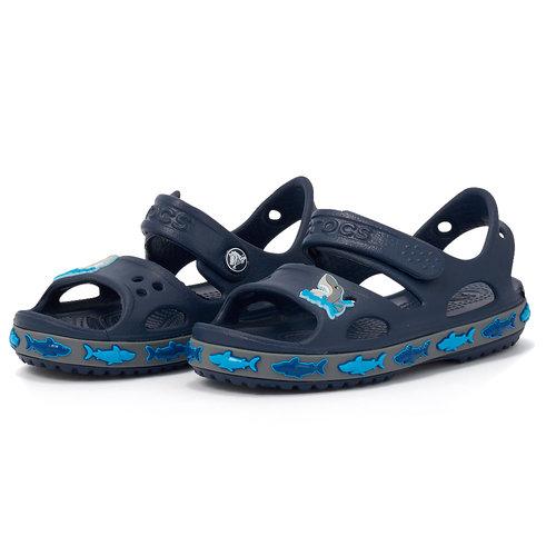 Crocs FL Shark Band Sandal B - Πέδιλα - ΜΠΛΕ ΣΚΟΥΡΟ