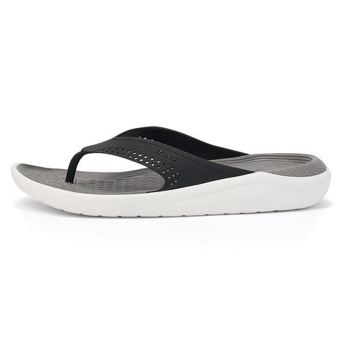 Crocs LiteRide Flip - Σαγιονάρες - ΜΑΥΡΟ/ΛΕΥΚΟ