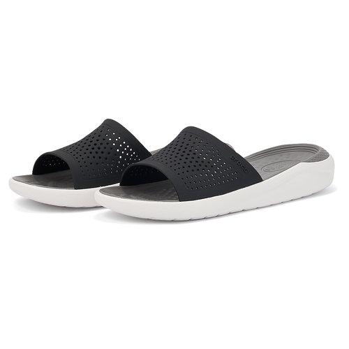 Crocs LiteRide Slide - Σαγιονάρες - ΜΑΥΡΟ/ΛΕΥΚΟ