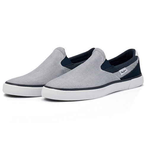 Pepe Jeans Kenton Slip On Chambray - Sneakers - ΓΚΡΙ/ΜΠΛΕ