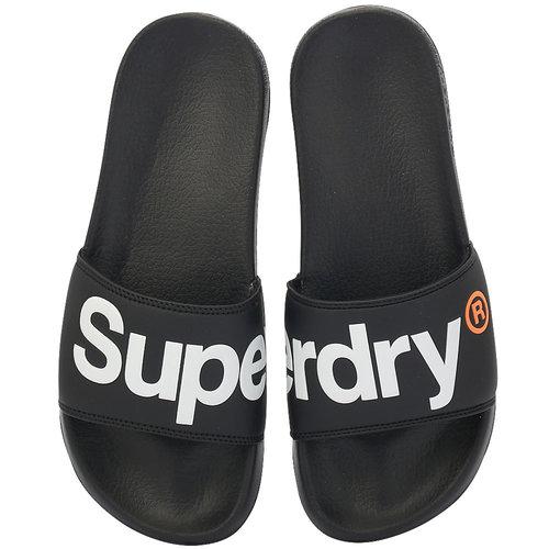 Superdry D1 Classic Pool Slide - Σαγιονάρες - ΜΑΥΡΟ