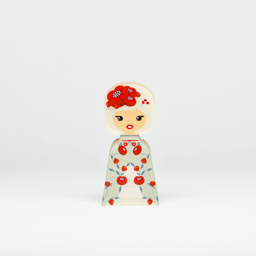 Lil'Ledy Figurine Flower Head Red Pretty Smart Small - Δώρα - ΔΙΑΦΟΡΑ ΧΡΩΜΑΤΑ