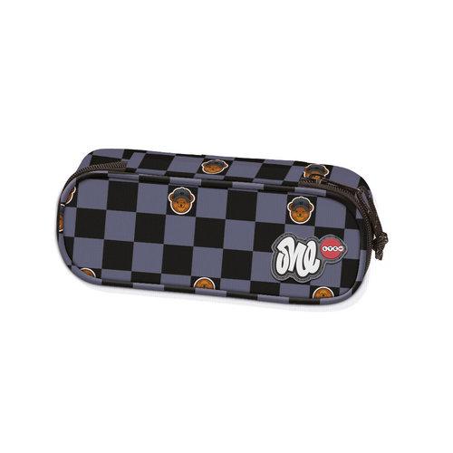 Lyc One Squares Line Oval Pencil Case - Σχολικές Τσάντες - ΜΑΥΡΟ