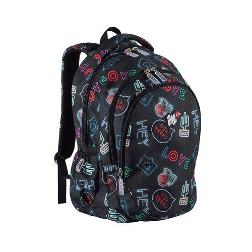 Lyc One Hello Line Backpack - Σχολικές Τσάντες - ΜΑΥΡΟ