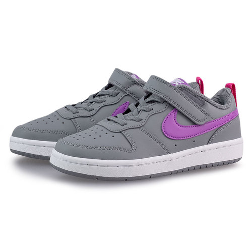 Nike Court Borough Low 2 (Psv) - Sneakers - ΓΚΡΙ/ΜΟΒ