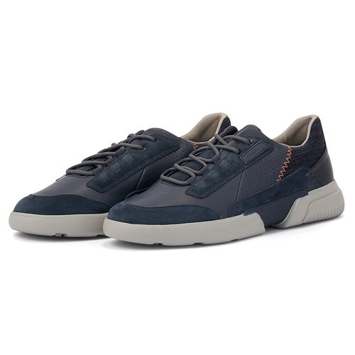 Geox U Smoother A - Sneakers - ΜΠΛΕ ΣΚΟΥΡΟ