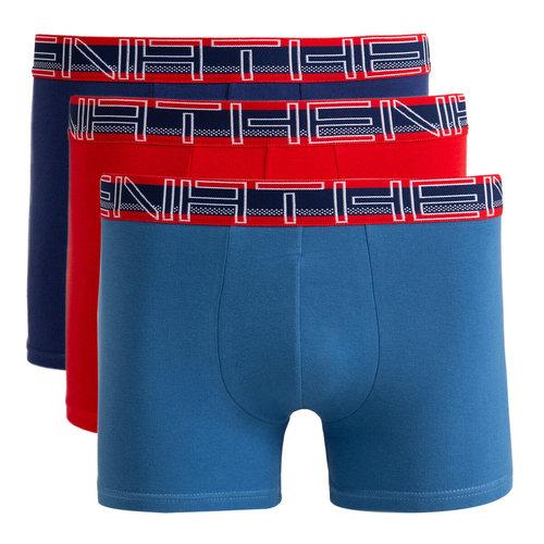 Σετ 3 μποξεράκια, Full Stretch - Εσώρουχα - BLACK + RED + BLUE