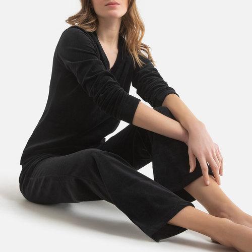 Πυτζάμες βελουτέ - Σύνολα Ύπνου - ΜΑΥΡΟ