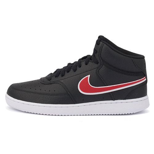 Nike Court Vision Mid - Αθλητικά - ΜΑΥΡΟ/ΚΟΚΚΙΝΟ