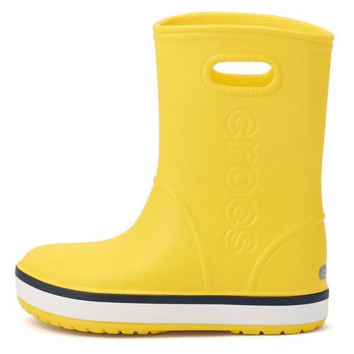 Crocs Crocband Rain Boot K - Γαλότσες - ΚΙΤΡΙΝΟ/ΜΠΛΕ