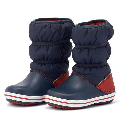 Crocs Crocband Winter Boot K - Γαλότσες - ΜΠΛΕ/ΚΟΚΚΙΝΟ