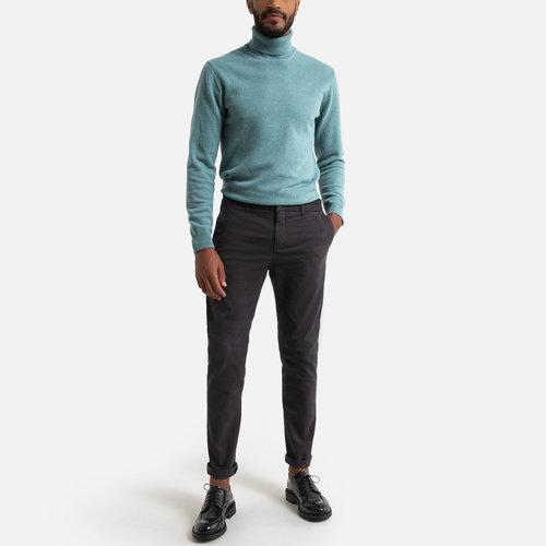 Παντελόνι chino σε γραμμή slim - Παντελόνια - ΓΚΡΙ ΣΚΟΥΡΟ