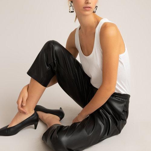 Παντελόνι από συνθετικό δέρμα - ΓΥΝΑΙΚΑ - ΜΑΥΡΟ