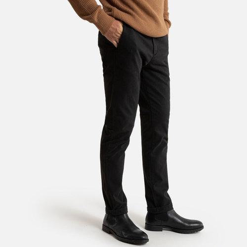 Παντελόνι chino σε γραμμή slim - Παντελόνια - ΜΑΥΡΟ