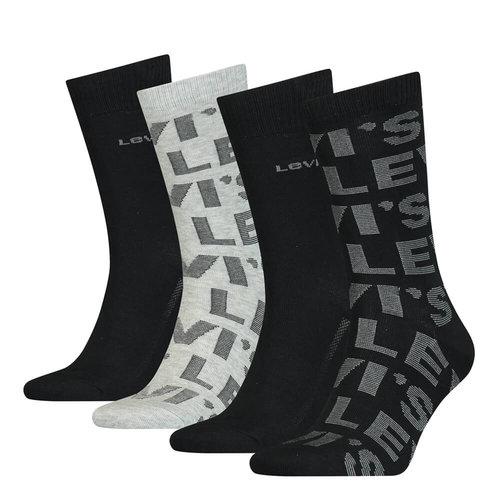 Levis Giftbox Aop 4P - Κάλτσες - ΜΑΥΡΟ/ΓΚΡΙ