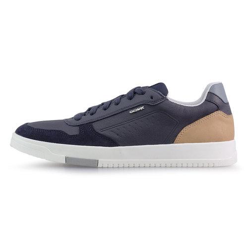 Geox U Segnale - Sneakers - NAVY/COGNAC