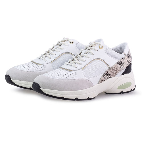 Geox D Alhour A - Sneakers - WHITE