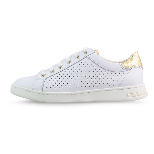 Geox D Jaysen B - Sneakers - WHITE/GOLD
