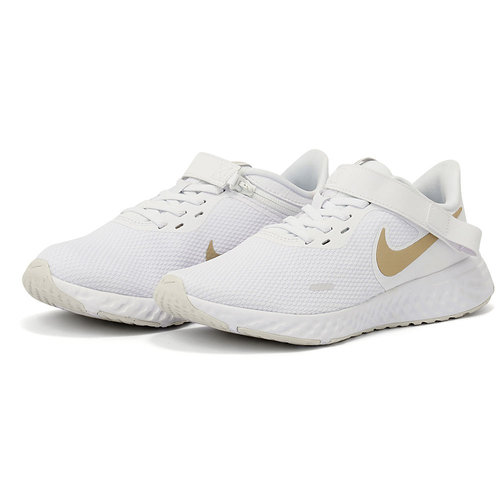 Nike Revolution 5 Flyease - Αθλητικά - WHITE/MTLC GOLD STAR