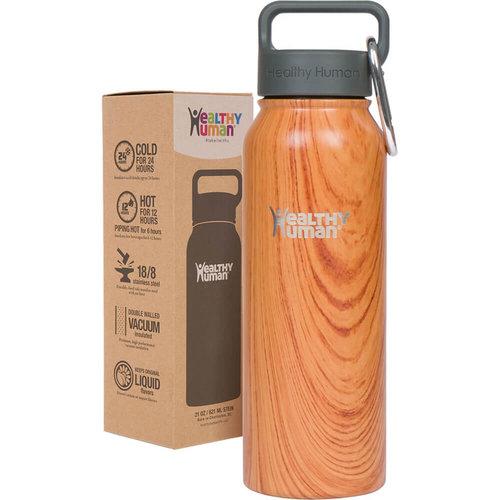 Healthy Human Stein  Bottle - Παγούρια Θερμός - NATURAL WOOD