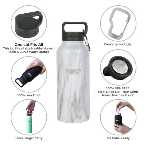 Healthy Human Stein  Bottle - Παγούρια Θερμός - STONE WHITE
