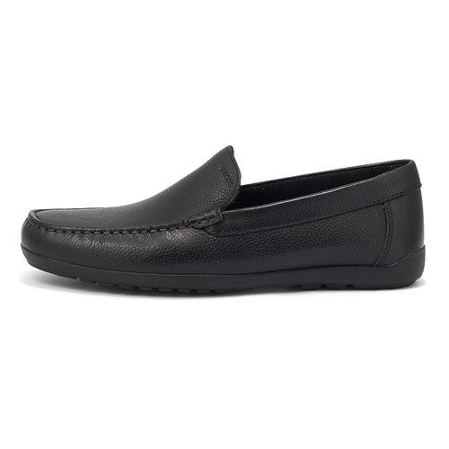 Geox U Tivoli B - Brogues & Loafers - BLACK