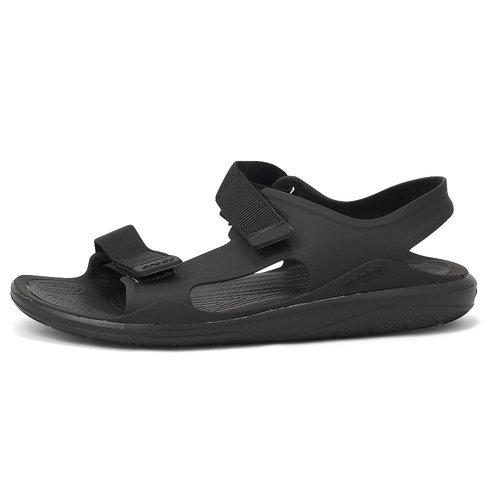 Crocs Swiftwater - Πέδιλα - BLACK/BLACK