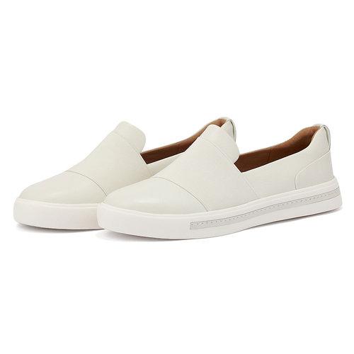 Clarks Un Maui Step White - Sneakers - WHITE