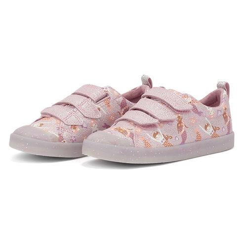 Clarks Foxing Print K Pink - Sneakers - PINK