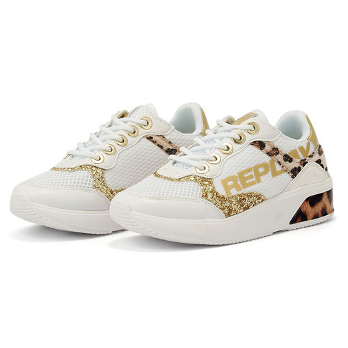 Replay - Sneakers - WHITE/LEOPARD