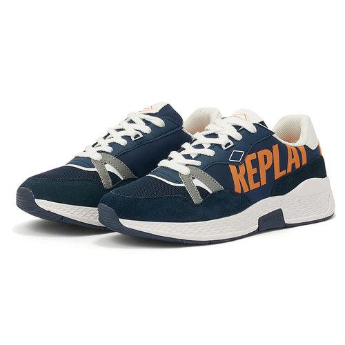 Replay - Sneakers - NAVY/ORANGE