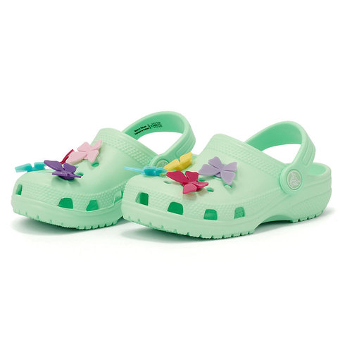 Crocs Butterfly Charm Clg PS - Σαγιονάρες - NEO MINT