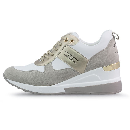 Renato Garini - Sneakers - ΜΠΕΖ/ΛΕΥΚΟ