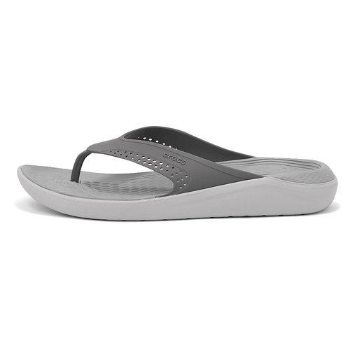 Crocs LiteRide Flip - Σαγιονάρες - SMOKE/PEARL WHITE