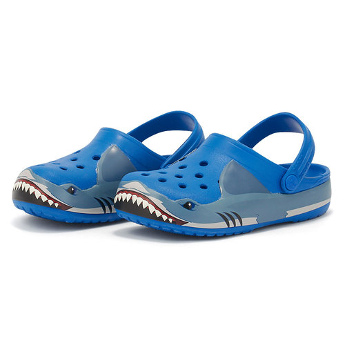 Crocs Fun Lab Shark Band Clg - Σαγιονάρες - BRIGHT COBALT