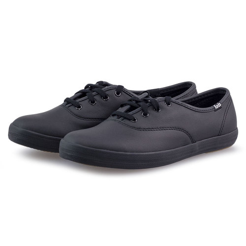 Keds Champion Core Leather - Sneakers - BLACK