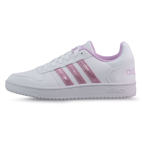 adidas Hoops 2.0 K - Sneakers - FTWR WHITE/CLEAR LILAC