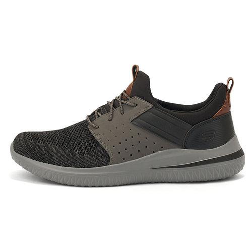 Skechers Delson 3.0 - Sneakers - ΜΑΥΡΟ/ΓΚΡΙ